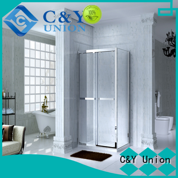 C&Y Union semi framed shower door for tub for bathroom