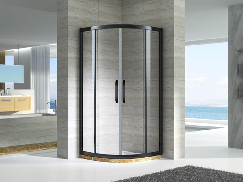 stainless steel semi framed shower door for tub for bagnio-1