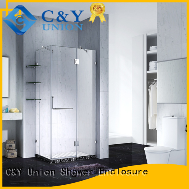 C&Y Union firm glass shower enclosures shower screen for tub