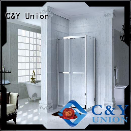 C&Y Union durable framed glass shower door for sale for corner