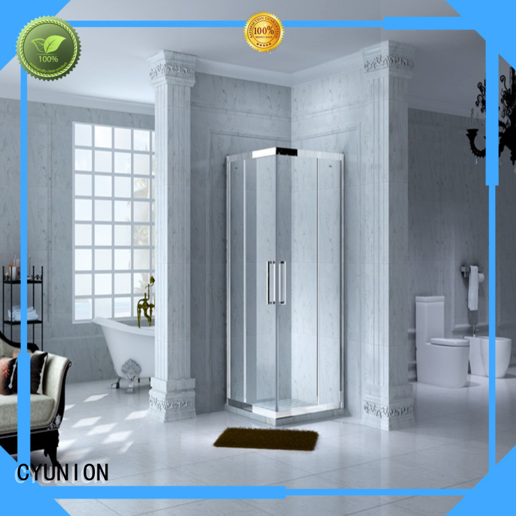 CYUNION Brand design installation glass shower doors for tub