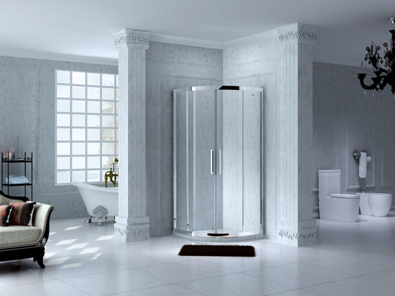 popular framed shower glass doors for tub for bagnio-3