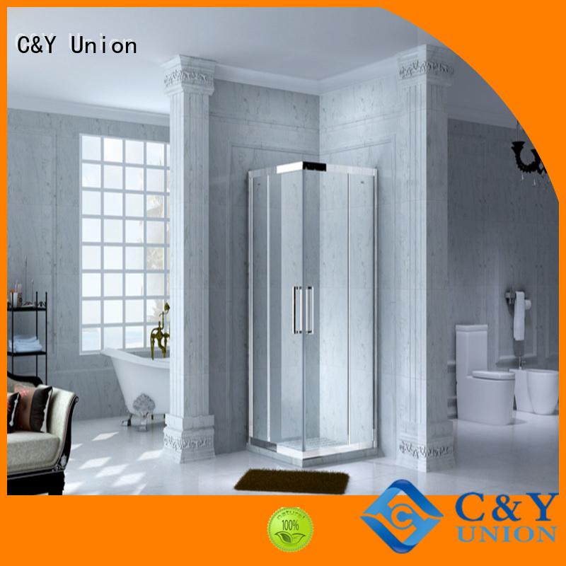 elegant framed glass shower enclosure with sliding door for bagnio