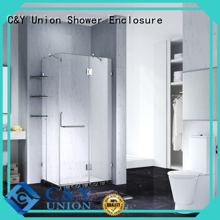 elegant frameless glass shower doors factory for tub