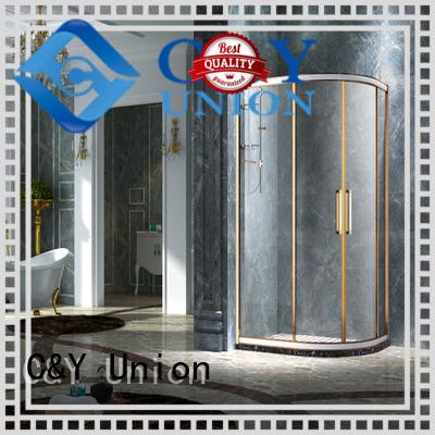 modern quadrant adjustable glass shower doors for tub C&Y Union manufacture