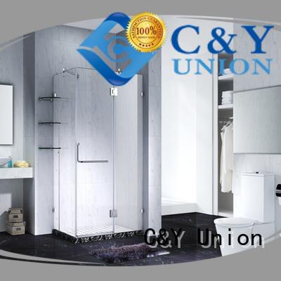 C&Y Union frameless shower easy clean for bathroom
