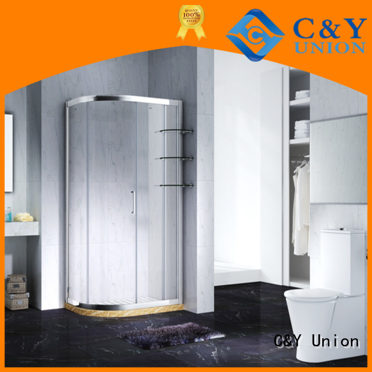 C&Y Union practical semi framed shower for sale for bathtub showers