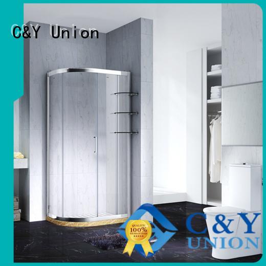 C&Y Union aluminum semi framed shower for sale for bath
