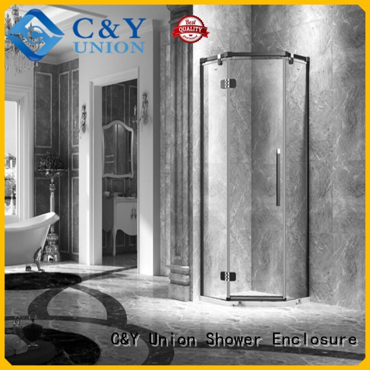 C&Y Union stable glass shower enclosures easy clean for tub