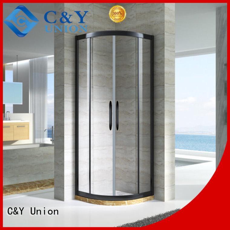 C&Y Union framed framed glass shower door corner standalone showers