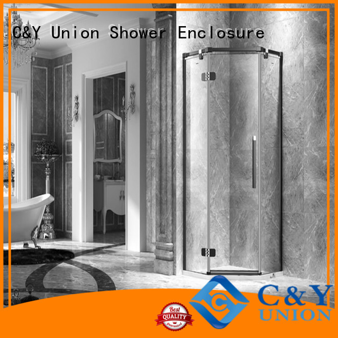 C&Y Union frameless shower shower screen for bath