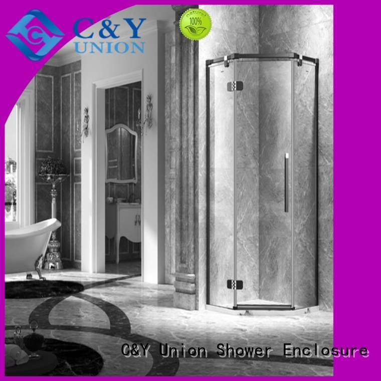 C&Y Union firm frameless shower factory for tub