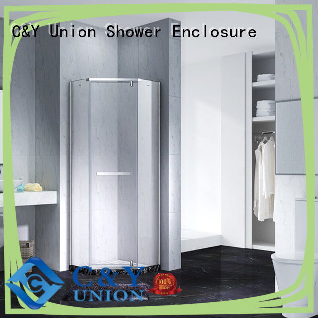 C&Y Union frameless glass shower doors easy clean for bagnio