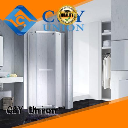 C&Y Union semi frameless shower door shower panels for bathroom