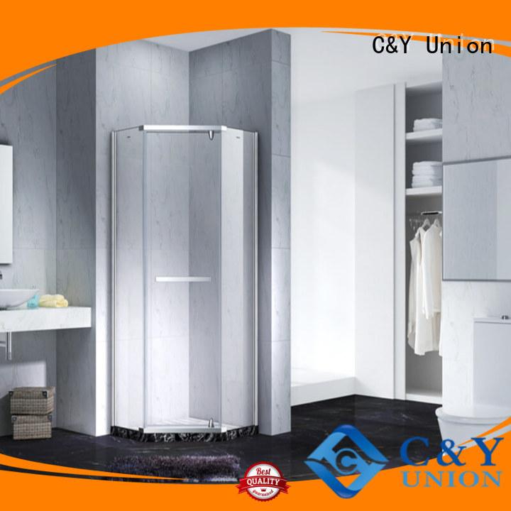 C&Y Union elegant frameless shower screen shower screen for bagnio
