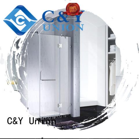 C&Y Union elegant semi frameless shower door factory for bathtub