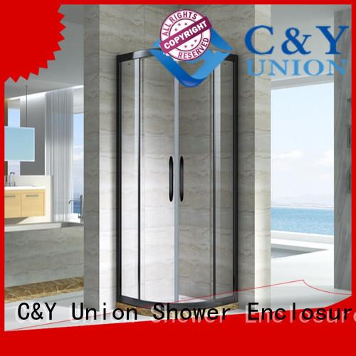 practical framed glass shower door for sale for corner