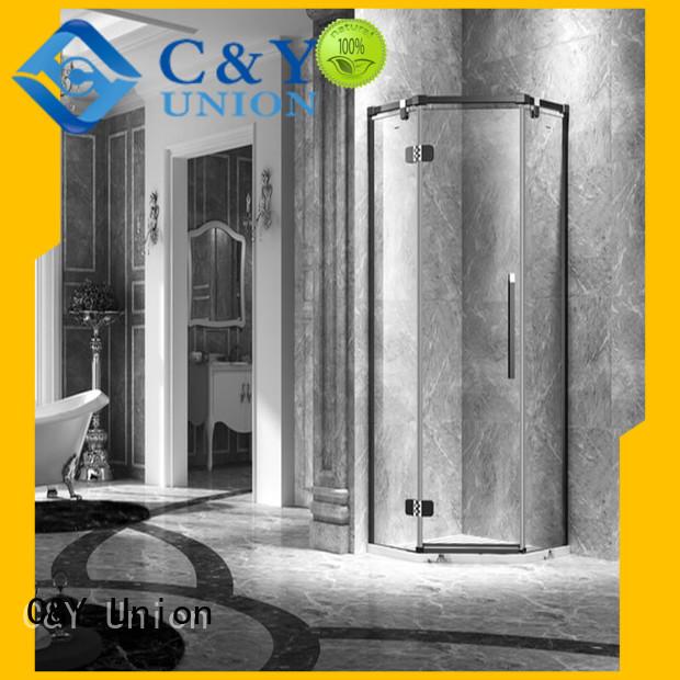 elegant frameless shower enclosure for tub