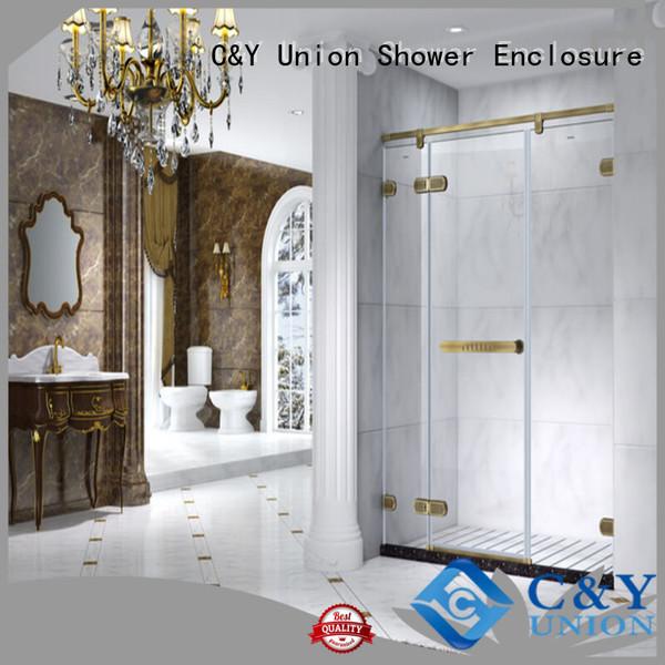C&Y Union elegant frameless shower enclosure cubicles for bath