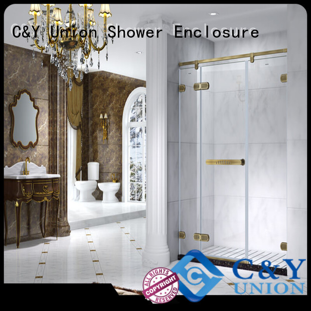 C&Y Union frameless shower screen cabin for shower room