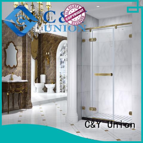 C&Y Union high quality frameless shower factory for bathtub