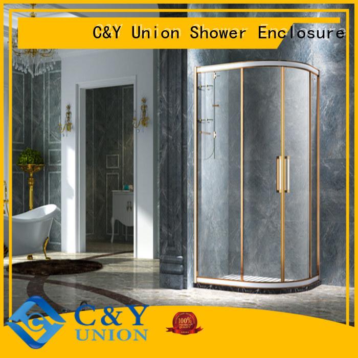 stainless steel framed glass shower enclosure for corner