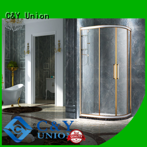 C&Y Union aluminum framed glass shower enclosure for shower room