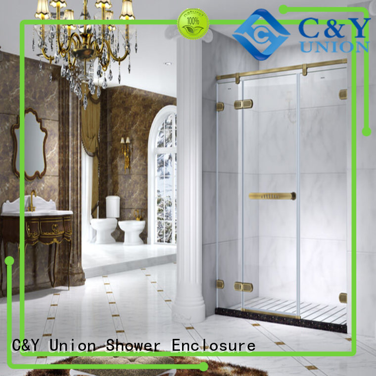 elegant semi frameless shower door for bath