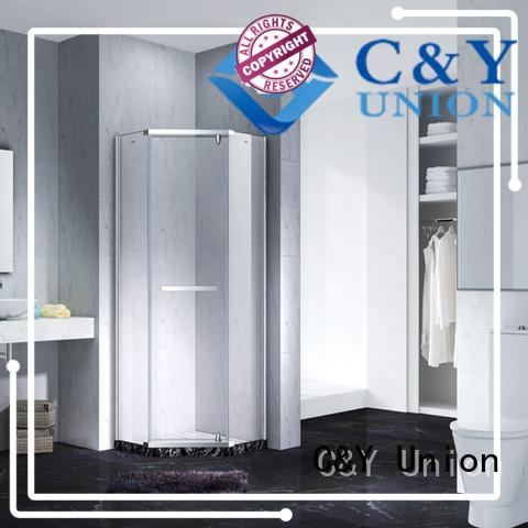C&Y Union frameless glass doors for bathroom