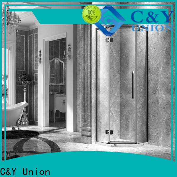 C&Y Union practical frameless shower screen shower screen for bath