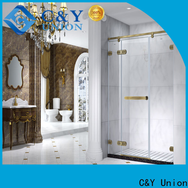 C&Y Union firm semi frameless shower door cabin for bath