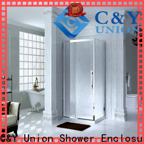 C&Y Union framed shower enclosure with sliding door for bathtub showers