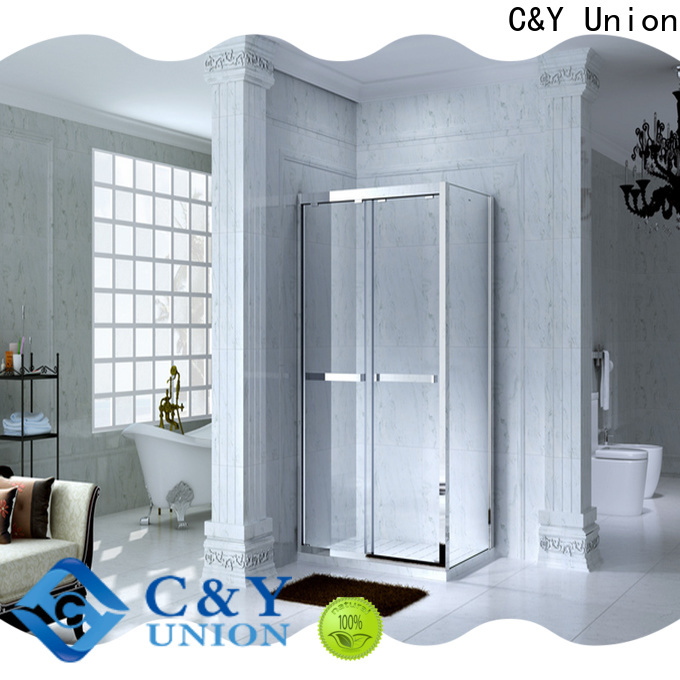 C&Y Union practical custom framed shower doors for bathroom