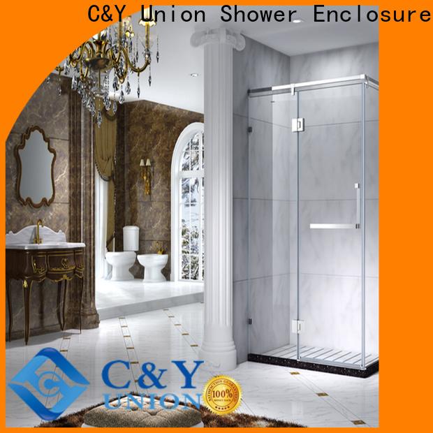 elegant framed glass shower door for tub for corner