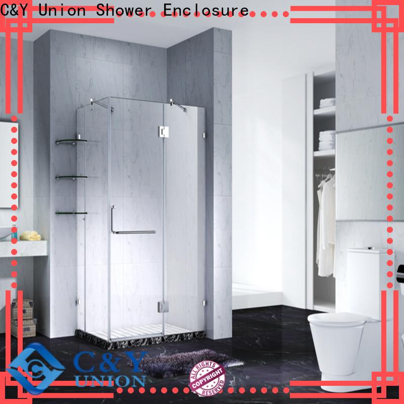 C&Y Union practical frameless shower enclosure shower panels for bathroom