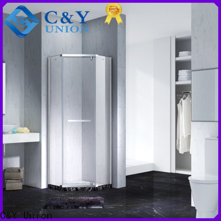 C&Y Union frameless glass shower doors cabin for bagnio