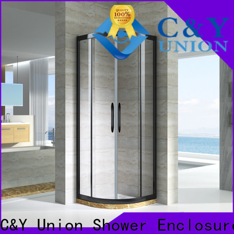 C&Y Union aluminum custom framed shower doors with sliding door for alcove