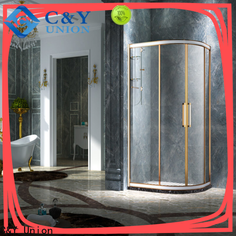 aluminum framed shower glass doors manufacturer for alcove
