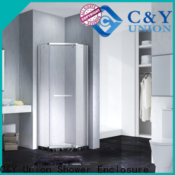 C&Y Union high quality semi frameless shower door shower screen for bath