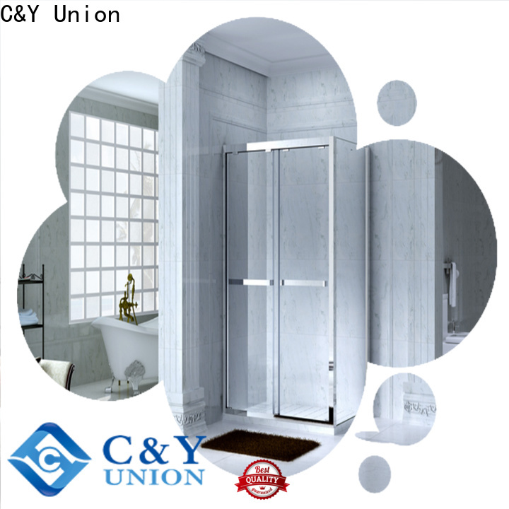 C&Y Union stainless steel framed shower glass doors manufacturer for bath