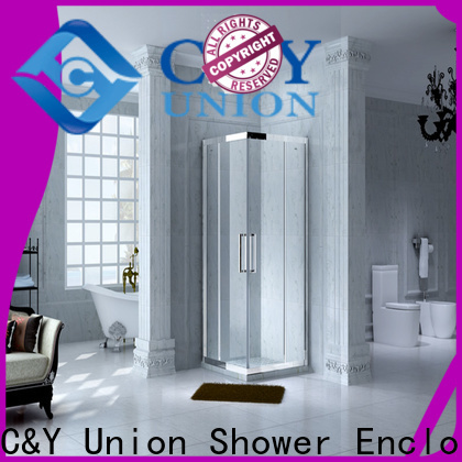 C&Y Union semi framed shower door for sale for bathtub showers