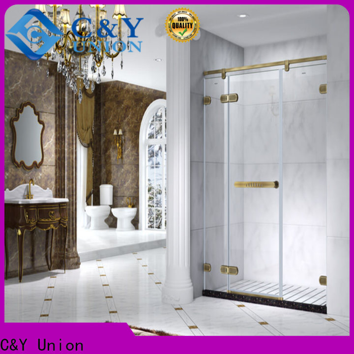 C&Y Union high quality frameless shower screen factory for bath