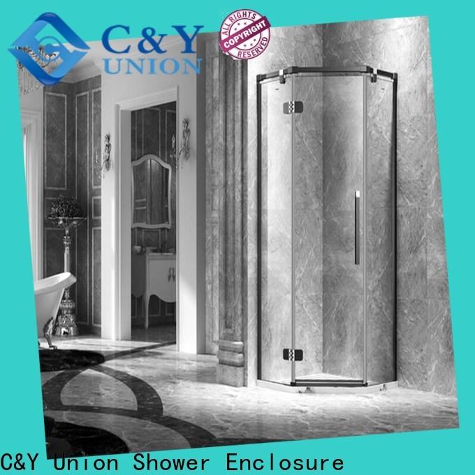 stable semi frameless shower door cabin for tub