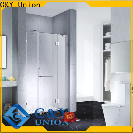 C&Y Union frameless shower screen factory for shower room