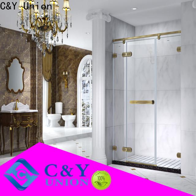 C&Y Union high quality frameless glass shower shower panels for bathroom
