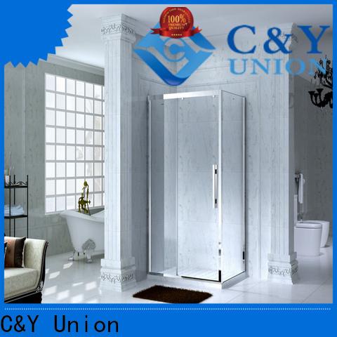 C&Y Union elegant framed shower glass doors for sale for standalone showers
