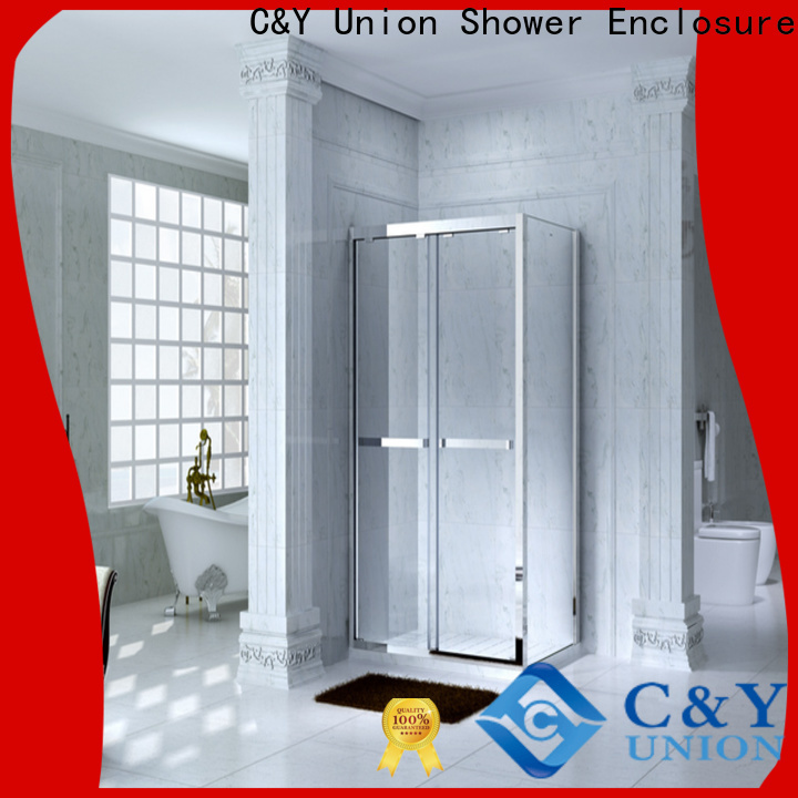 C&Y Union durable framed glass shower enclosure for sale for bagnio