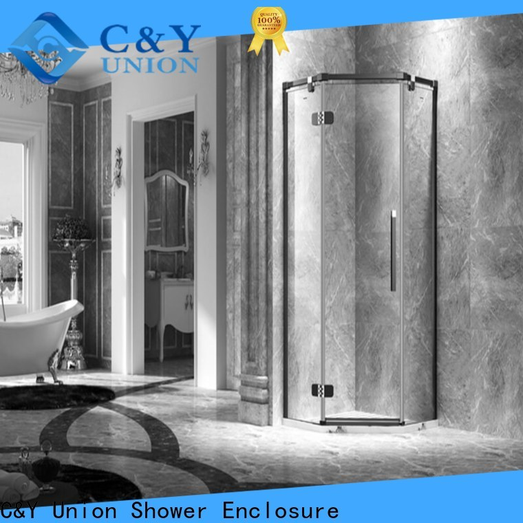 C&Y Union firm frameless glass shower doors shower panels for tub