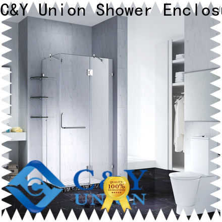 C&Y Union firm frameless glass shower doors easy clean for bagnio
