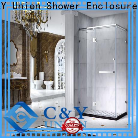 C&Y Union durable semi framed shower for tub for bathroom